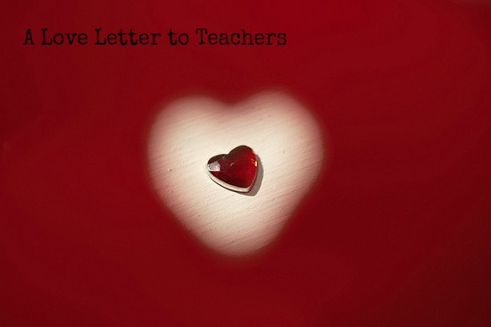 love letter to teacher