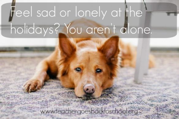 sad lonely holidays